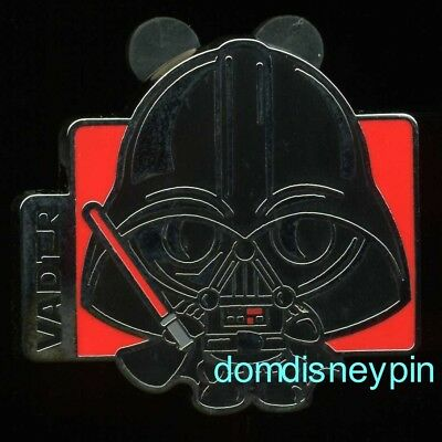 Disney Pin Star Wars Character *Stylized Cartoon* Booster Set - (Vader ONLY)!