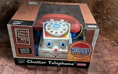 NIB 2005 Fisher Price Preschool Pull Toy Chatter Telephone Call remake