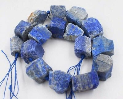 "lapis lazuli baroque blurry 20-25mm  15"" nature beads wholesale"