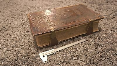 Antique Large Book,Russian Orthodox in top condition,leather on wood
