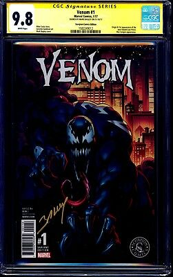 Venom #1 SCORPION COMICS VARIANT CGC SS 9.8 signed Mark Bagley MOVIE COMING SOON