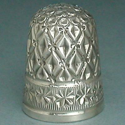 Rare Antique Registered English Sterling Silver Thimble * 1902 Hallmarks