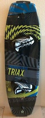 Neu Super CWB Triax 140 V Button Wakeboard SET Top Bindung 37-47,Molded In Fins
