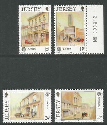 Jersey 1990 Europa/Post Offices--Attractive Architecture Topical (532-35) MNH