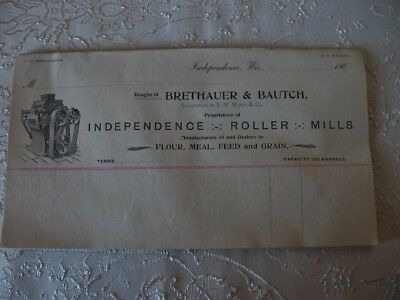 VTG ADVERTISING BRETHAUER & BAUTCH INDEPENDENCE WISCONSIN FEED MILL Early 1900s