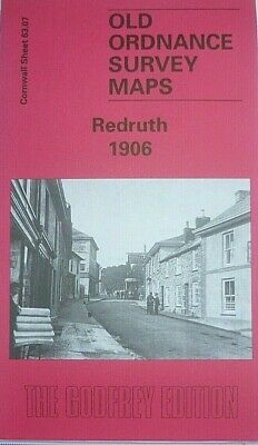 Old Ordnance Survey Detailed  Maps Redruth Cornwall 1906  Godfrey Edition New
