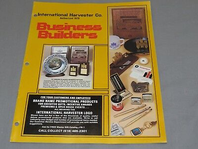 Vintage IH International Harvester Dealer Sales Promo item Catalog Brochure 70's