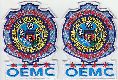 OEMC Chicago IL Illinois EMERGENCY MANAGEMENT COMMUNICATIONS 2 patches police