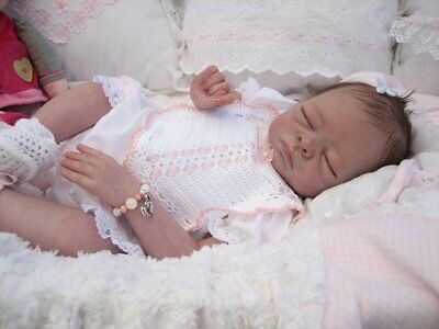 "1 x NEW UNPAINTED Reborn Doll KIT MOLLY by Tasha Edenholm 19"" Closed Eyes"