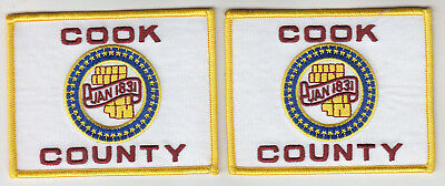 Cook County Flag regular--full color 2 patches sheriff police fire IL Illinois