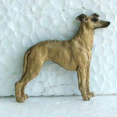 Whippet Fawn Brooch Dog Breed Jewellery Handpainted Handcrafted Resin