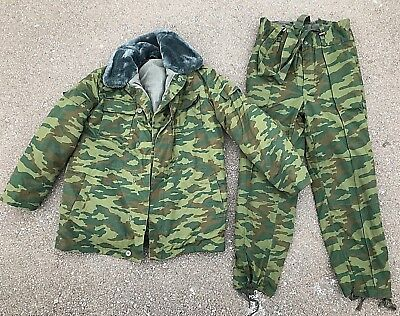 57e57d94c09 RUSSIAN ARMY   Military WINTER Camo Jacket   Pants- VSR-98