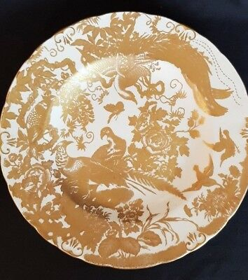 "Royal Crown Derby ""Gold Aves"" Dinner Plate"