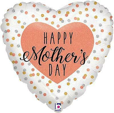 """Happy Mothers Day Glittering Rose 18"""" Foil Balloon"""
