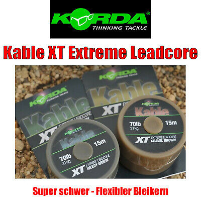 Rigs Korda Kable Leadcore 7m in 50lb weich abriebfest f 2 Farben 1m=1,14€