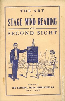 Art of Stage Mind Reading or Second Sight #1 1913 VG+ 4.5 Stock Image Low Grade
