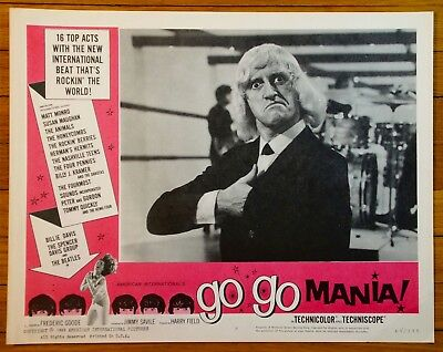 Go Go Mania!  Complete Set Of 8 Lobby Cards 1965 Steve Winwood Jimmy Saville