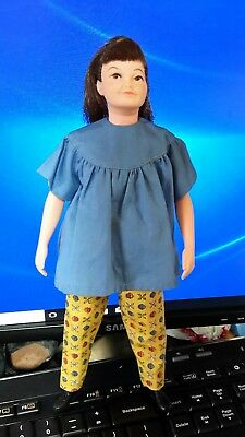 Remco Libby Littlechap Doll in blue top and yellow pants,black shoes