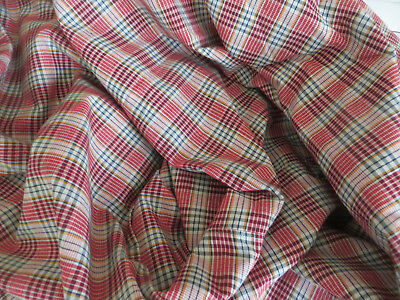 """Unused  German Cottage Duvet Cover Checked Linen  53 """" by  65 """""""