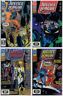 JUSTICE LEAGUE EUROPE #29 #30 #31 #32 - 1991 - CGC Ready! - 9.6 OR BETTER