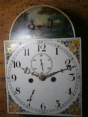 SEESAW AUTOMATION 12+17 inch 8day  c1820 LONGCASE  CLOCK dial + movement
