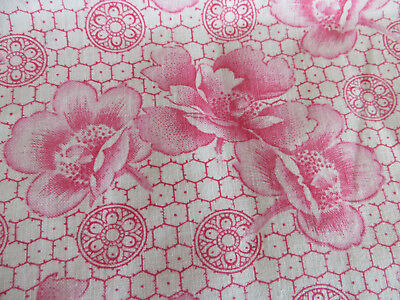 """Unused  German  Romantic  Pillowcase Sham Cover Red + Pink Flowers  30 """" by 30 """""""