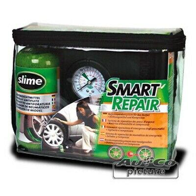 SLIME Pannenset Kompressor + Dichtmittel - Tire Repair Kit Smart Repair - Reifen