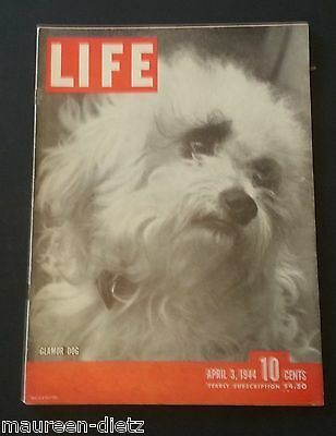April 3, 1944 LIFE Magazine WWII Coke ad 40s Advertising ads FREE SHIP news 4 2