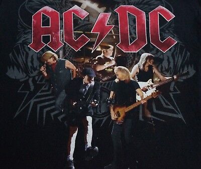AC/DC CONCERT T-SHIRT 08-09 BLACK ICE TOUR Size S-DOUBLE SIDED MALCOLM YOUNG