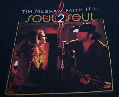 Tim McGraw and Faith Hill Soul  2 Soul Tour 2008 2 Sided Black T-shirt