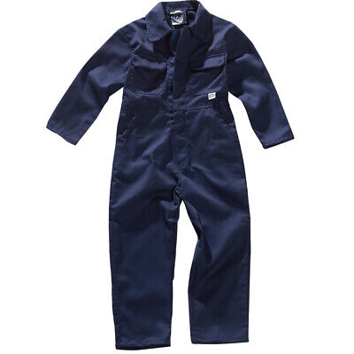 Tuff Childrens Boys Girls Vercro Front Coverall Overall Boilersuit Kids Workwear
