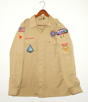 BOY SCOUTS Of America UNIFORM Shirt #41 LONG SLEEVE Scout Adult Mens : XL