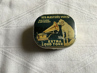Blechdose HIS MASTERS VOICE Grammophon Nadeldose