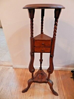 "Vintage Antique Solid Wood Plant Vase Picture Stand 33  1/2"" Tall"