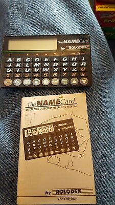 Rolodex Name Card electronic Address Book