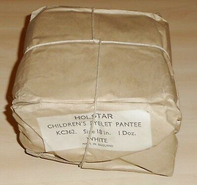 12 PACK OF VINTAGE 1960s UNWORN GIRLS HOLSTAR EYELET SCHOOL KNICKERS PANTIES 28""