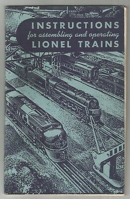 1949 Instructions For Assembling & Operating Lionel Trains-Free Usa Shipping-Ex