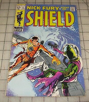 NICK FURY, Agent of Shield #11 (April 1969) VG+ Condition Comic