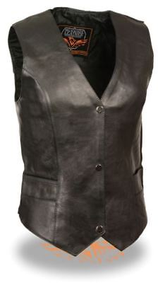 Milwaukee Womens Classic Snap Front Vest Black