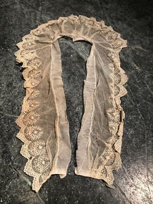 Antique Victorian Era Lace and Pearl Collar