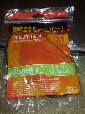 bissell 7, 9, 10, 12, and 14 belt, 2 belts per pack