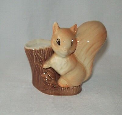 Hornsea Royal Fauna Vintage Squirrel Miniature Log Vase with Free Friend