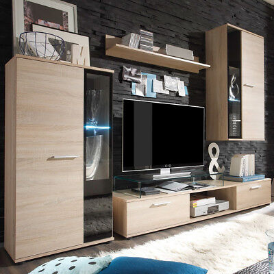 schrankwand buche front massiv eur 1 00 picclick de. Black Bedroom Furniture Sets. Home Design Ideas