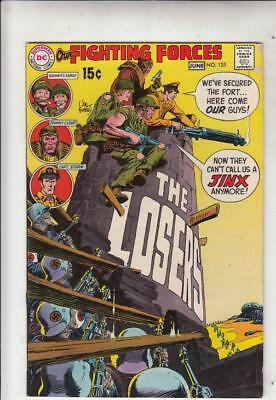 Our Fighting Forces # 125 strict FN+  artist Joe Kubert Cover!