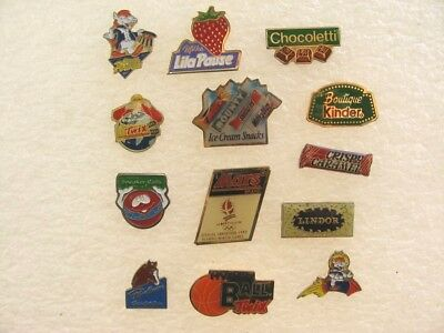 LOT 13 PIN'S thème CHOCOLAT / ALIMENTATION LINDT KINDER POULAIN ... PIN PINS #31