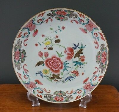 FINE Antique Chinese Porcelain Famille Rose Flower Bowl Plate YONGZHENG 18thC #A