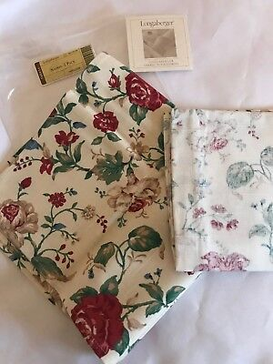 Longaberger Fabric NAPKINS (Set of 2) - HEIRLOOM FLORAL (Red)  - Beautiful!!