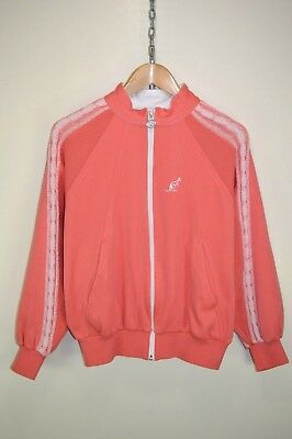 vtg 80s AUSTRALIAN BY L'ALPINA TRACK JACKET TRACKSUIT TOP CASUALS size UK 12