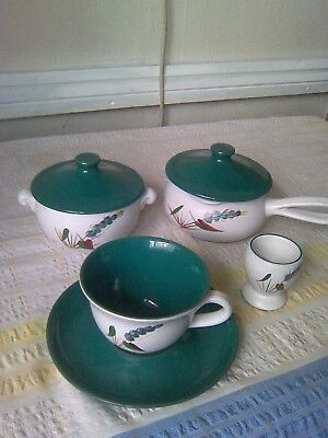 Denby Job Lot Of Green Wheat