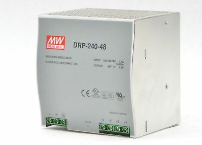 Mean Well Mw Drp-240-48 Din Rail Switching Reg. Power Supply 1-Phase 240W 48V 5A